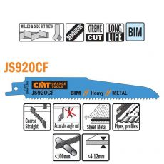 Bi-metaal reciprozaagblad 150 x 1,6 mm. 9tpi  (5 stuks)