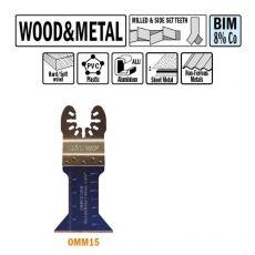 45 mm. Bi-metaal multitool voor hout en metaal (Universeel)