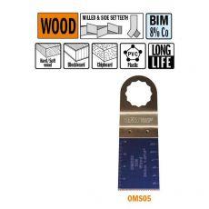 34 mm. Bi-metaal multitool voor in hout (SuperCut)