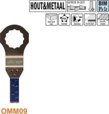 10 mm. Bi-metaal multitool voor hout en metaal (SuperCut)