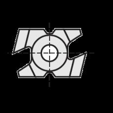 Kantenbrekers 27 x 6 x 16 mm.  45º  MAN stark